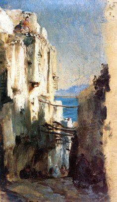 Alger, vieille rue (Felix-Francois-Georges-Philbert Ziem - )