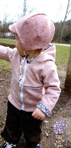 "Kinderjäckchen nähen - Zip Up Hoodie ""Zipadoo"" - FREEBOOK - Lila wie Liebe"