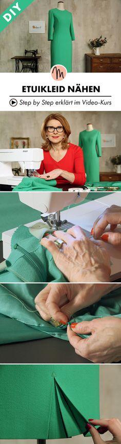 Das perfekt maßgeschneiderte Kleid nähen - Step by Step erklärt im Video-Kurs via Makerist.de