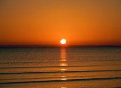 Amanecer En El Mar, Romántico, Reflejo