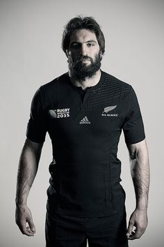 Sam Whitelock poses during a New Zealand All Blacks Rugby World Cup Squad Portrait Session on August 31, 2015 in Wellington, New Zealand.