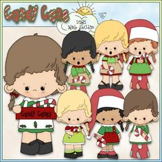 Clip Art and Digital Stamps Download with 8 Color Images and 8 Black and White Images as shown in the preview.  All images are high quality 300 dpi for beautiful printing results.  CLIP ART Formats: transparent PNG and non-transparent JPG Includes: 7 girls wearing Christmas dresses and holding candy canes (1 is also holding a sign with wording of: CANDY CANES, 1 word art of: CANDY CANE.