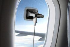 この発想は素晴らしい。窓にぴたっとくっつけて太陽の力を存分にチャージできるソーラー充電器です。電源がない飛行機内や車の中での充電...