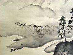 Kawai Gyokudo : Ink wash painting
