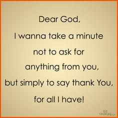 Thank you God! So thankful