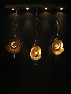 """Handmade Ceiling Light,Lighting """"Cochlea Snail"""""""