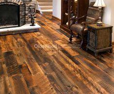 Contemporary Barnwood Hardwood Flooring Bold Idea Reclaimed Wood Wide Plank Floor Antique Oak Hit Skip Engineered Look Style Wood Flooring Options, Reclaimed Hardwood Flooring, Wide Plank Flooring, Stone Flooring, Hardwood Floors, Pine Floors, Wooden Bathroom, Barn Wood, Look Fashion
