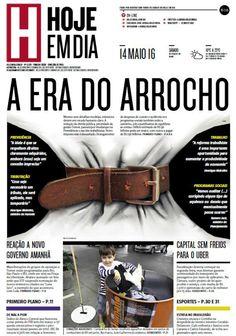 Capa do dia 14/05/2016 #HojeEmDia #Jornal #Notícias #News #Newspaper