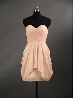 2013 Simple Chiffon Short Prom Dress/Graduation Dress