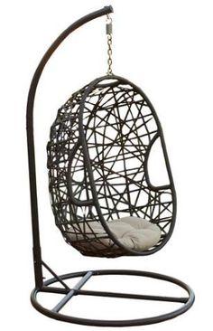 Friday Favs | Vol 5 | Garrison Street Design Studio | Egg Wicker Patio Chair - Brown - Christopher Knight Home | Swing Chair | Egg Chair | Patio Furniture | Patio Swing | Affiliate Link