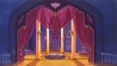 One of the palace's bedrooms - Aladdin