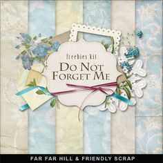 New Freebies Kit - Do Not Forget Me :Far Far Hill - Free database of digital illustrations and papers Digital Paper Freebie, Digital Scrapbooking Freebies, Digital Scrapbook Paper, My Scrapbook, Scrapbook Sketches, Scrapbook Supplies, Scrapbooking Layouts, Digital Papers, Leaf Template