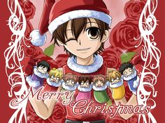 Haruhi Xmas- wallpaper by snowbunnyluv   I maybe goth but that doesn't mean I can enjoy some freaking adorable animes ok?! =^,~=