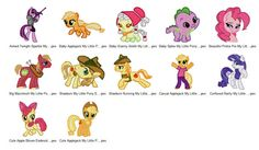 Package 12 My Little Pony 03 Embroidery Designs  This listing is for a digital file to be embroidered. You will need an embroidery machine to