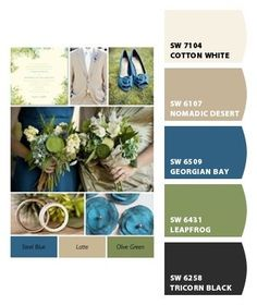 Living Room - Paint colors from Chip It! by Sherwin-Williams - hmmm.love the blue and the green. I wonder if the green would work on a small wall - a pop of color. The blue - the island? Bedroom Wall Colors, Bedroom Color Schemes, Paint Schemes, Bedroom Ideas, Colour Schemes, Bedroom Green, Color Palettes, Bedroom Black, Coral Bedroom