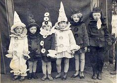 A wonderful old photo of costumed trick-or-treaters in a time long past... They look wonderful! (Thanks to their Mums for rigging them out and getting them all together for a photo.) Here's to carrying on the Halloween tradition in a spirit of good will and fun!