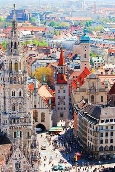 This is a beautiful photo of Munich, Germany. Munich is know to be the third largest city in Germany. Places Around The World, Oh The Places You'll Go, Travel Around The World, Places To Travel, Travel Destinations, Places To Visit, Around The Worlds, Travel Stuff, Dream Vacations