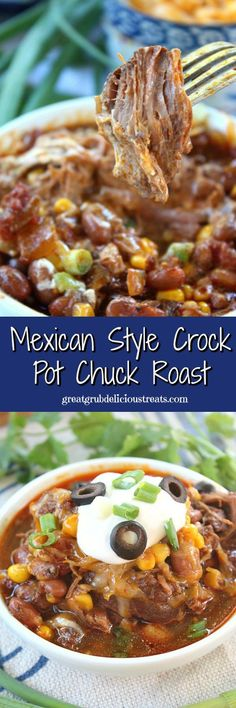Mexican Style Crock Pot Chuck Roast