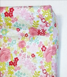 Pink Shabby Chic Floral Changing Pad Cover