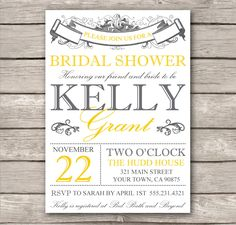 Handmade bridal shower invitations homemade invitations bridal3 bridal shower invitation or baby shower invitation customize printable template diy modern filmwisefo