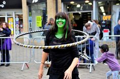Freaky Friday in Weymouth town centre on October Hula Hooping workshop in New Bond Street. October Half Term, Street 2015, Hula Hooping, Bond Street, Graham, Schools, 30th, Centre, Workshop