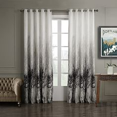To+paneler+Window+Treatment+Rustikk+Soverom+Polyester+Materiale+gardiner+gardiner+Hjem+Dekor+For+Vindu+–+GBP+£+36.89