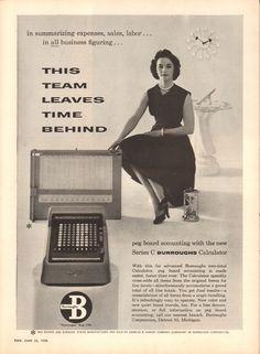 https://flic.kr/p/SDEtX1   1956 Burroughs Calculator Advertisement Time Magazine June 25 1956   1956 Burroughs Calculator Advertisement Time Magazine June 25 1956