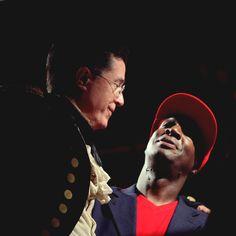 Stephen Colbert and Grandmaster Flash at StePhest Colbchella '012.