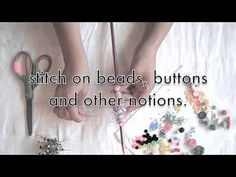 VIDEO: how to make fabric beads by Alma Stoller