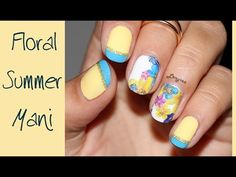 French Tip and Summer Flowers