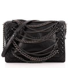 Chanel Boy Flap Bag Enchained Lambskin XL