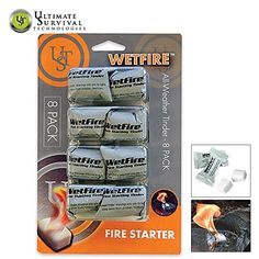 8 - Pk. of Wetfire Tinder Ultimate Survival Technologies http://www.amazon.com/dp/B00QV5F5XU/ref=cm_sw_r_pi_dp_WRn0wb0M6EYWK