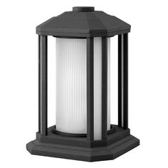 Castelle Black One-Light Outdoor Pier Mount