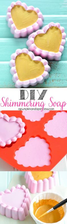 DIY Shimmering Gold Soap - A Pumpkin And A Princess