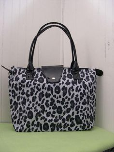 Leopard Handbag (Gray+Black)
