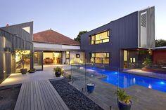 Balwyn House   Adam Dettrick Architects   modern home backyard