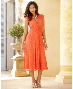 """Joanna Hope"" Joanna Hope Twist Front Lace Dress at Marisota"