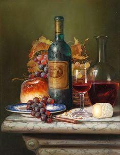 Раймонд Кэмпбелл (Raymond Campbell), род в 1956. Англия - Современный натюрморт