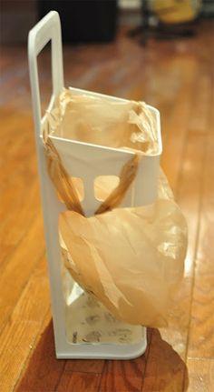 ikea plastic bags holder trash bin