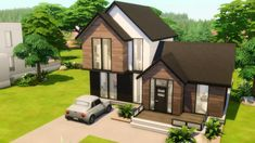 Sims 4 Gameplay, The Sims4, Sims House, Scandinavian Home, Shed, Outdoor Structures, Building, Inspiration, Ideas