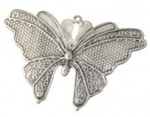 mariposa 69x50mm plata free http://nellass.com/categories/CUENTAS-Y-ABALORIOS/ZAMAK/colgantes/bichos/