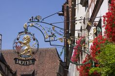 Lovely Gilded Hotel Sign, Rothenburg ob der Tauber, Germany by Richard Ainsworth