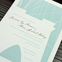 brooklyn bridge wedding invitation