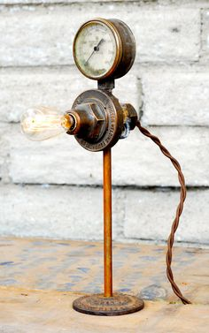 Little Steampunk Lamp by Californiarediscover on Etsy