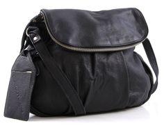 wardow.com - Cowboysbag Metz Schultertasche Leder schwarz 31 cm, 115,00 €