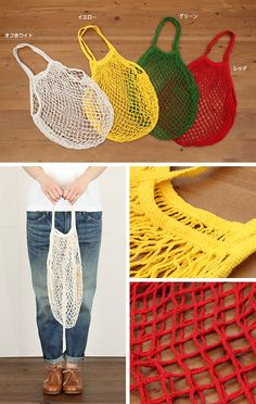 These 5 Market Bag Free Knitting Patterns are quick and easy to make. Easy Knitting Projects, Knitting Blogs, Knitting Patterns Free, Free Knitting, Crochet Patterns, Crochet Projects, Knit Or Crochet, Filet Crochet, Crochet Bags