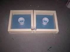 Picture of How to make washer toss game add turf to bottom to stop bounce