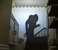 Nosferatu SHOWER CURTAIN Symphony of Horror 1922 Vampire Dracula $100