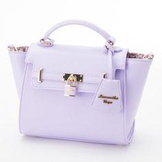 Samantha-Thavasa-Vega-Padlock-Pastel-Color-Small-Handbag-Shoulder-Pink-Mint