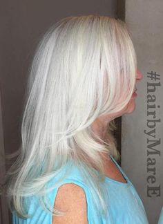 Medium Layered Gray Hairstyle